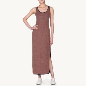 Emily Keller Dresses & Skirts - Reversible Knit Maxi Dress w slit blush & black