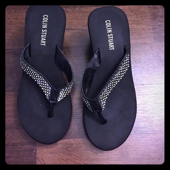 3e127a0c9ba33a Victoria secret wedges sandals shoes rhinestones
