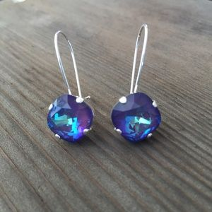 Hand crafted earrings with Swarovski crystals #26