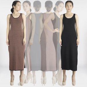 Emily Keller Dresses & Skirts - Side slit maxi dress blush and black