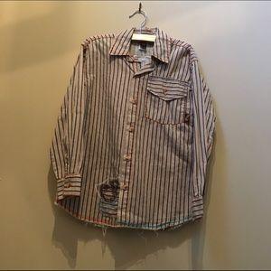 Charlie Rocket Other - Charlie Rocket LS button down striped shirt
