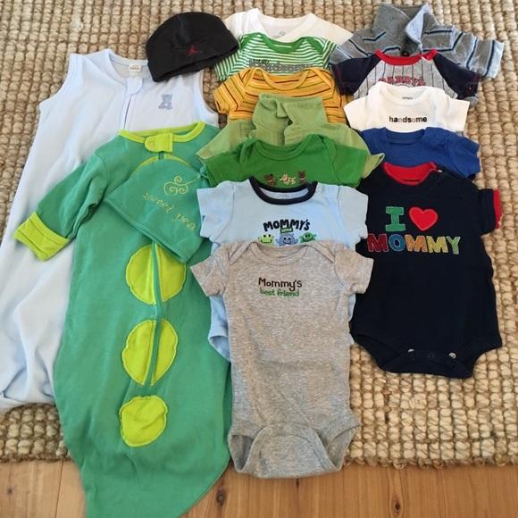 860807f48 SALE!! Bundle  0-3 month baby boy clothing.