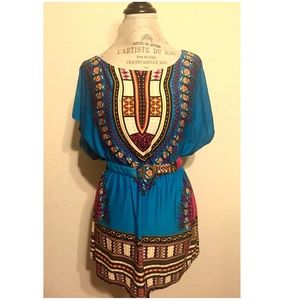 Indian Print Hippie Top