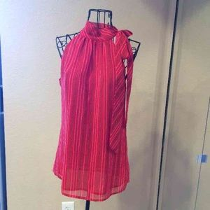 Banana Republic red silk top