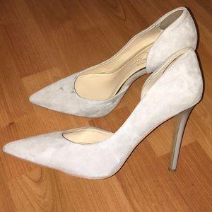 06e8c4fb39f6 Jessica Simpson Shoes - Jessica Simpson Claudette Gray suede pumps