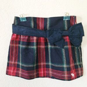 Abercrombie & Fitch Dresses & Skirts - New Abercrombie Fitch Plaid Navy Bow Mini Skirt