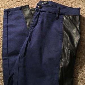 Bebe jeans with leather insets