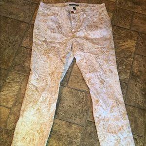 Ralph Lauren Pants - Super cool metallic splotchy pants