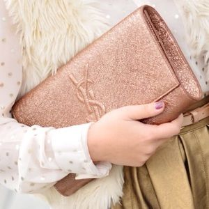 Yves Saint Laurent Handbags - NWT Yves Saint Laurent YSL Rose Gold Clutch