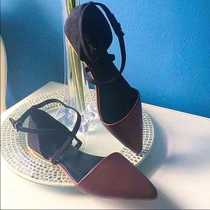 PRICE DROPCrossed Ankle Strap Flats