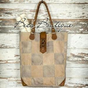Canvas Patchwork Tote