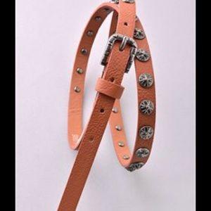 Dark tan belt