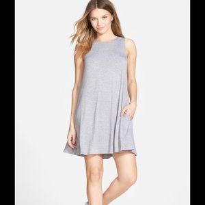Gray Swing Dress w Pockets