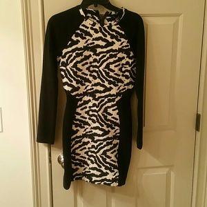 Black & White H&M dress