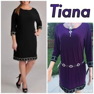 Tiana B. dress in the color berry
