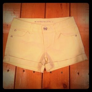 Yellow shorts by Celebrity Pink