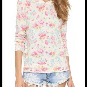 Sundry Floral Sweater