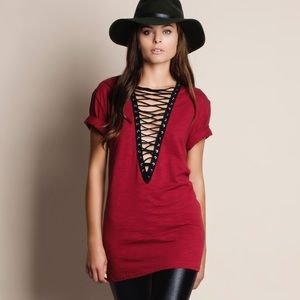 Bare Anthology Tops - Rapture Lace Up Tunic Top