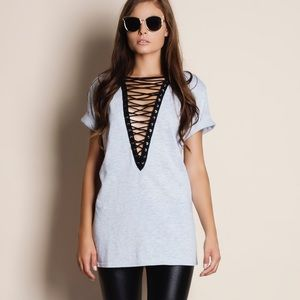 Rapture Lace Up Tunic Top