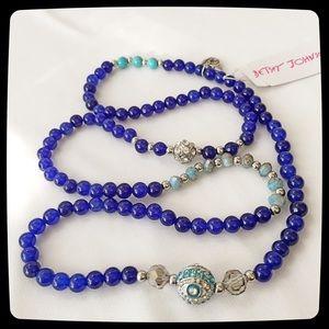 Betsey Johnson Semi-Precious Stone Blue *BWT*