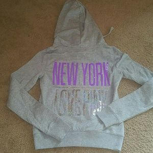 PINK Victoria's Secret Sweaters - NWT VICTORIA'S SECRET PINK NYC HOODIE
