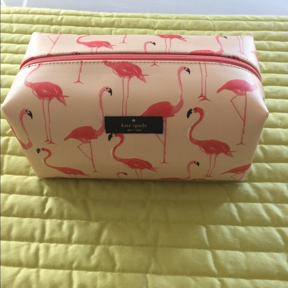 3c33a237fda4 Kate spade flamingo makeup case NWT