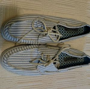Sperry Top-Sider Chambray Boat/Deck Shoes 9
