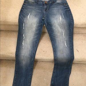 Blue denim cotton jeans, new, size 6