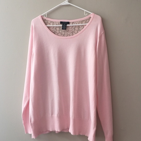 73% off Deb Tops - Baby Pink Sweater With Lace Back from Theresa's ...