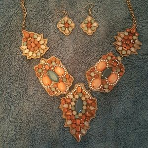 Jewelry - Coral & Turquoise Jewelry Set