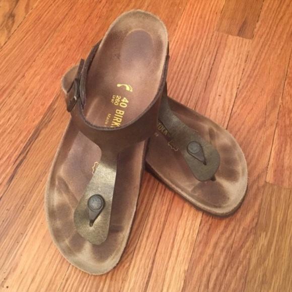 81747df79 Birkenstock Shoes - Birkenstock Gizeh Holden brown thong sandals