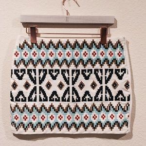 Dresses & Skirts - NWOT embroidered tribal Aztec colorful skirt
