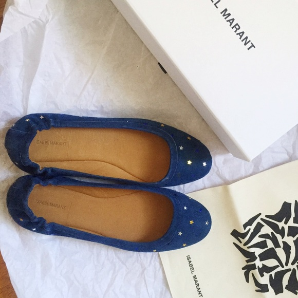 8f0c6dbd32 Isabel Marant Shoes | Nwt Suede Ballet Flats With Stars | Poshmark