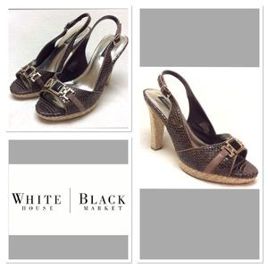 White House Black Market Shoes - 9M  WHITE HOUSE BLACK MARKET  Brown Jeweled Heels