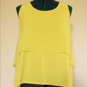 Vince Camuto Tops - VINCE CAMUTO yellow crop top