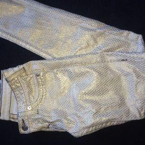 True religion metallic gold Jean