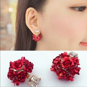 Jewelry - Rose and diamond Double Sided Earring