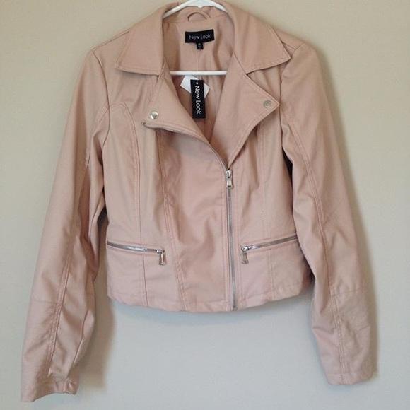 New Look tanblush moto jacket.