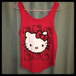 Sanrio Tops - Red Hello Kitty Tank Top