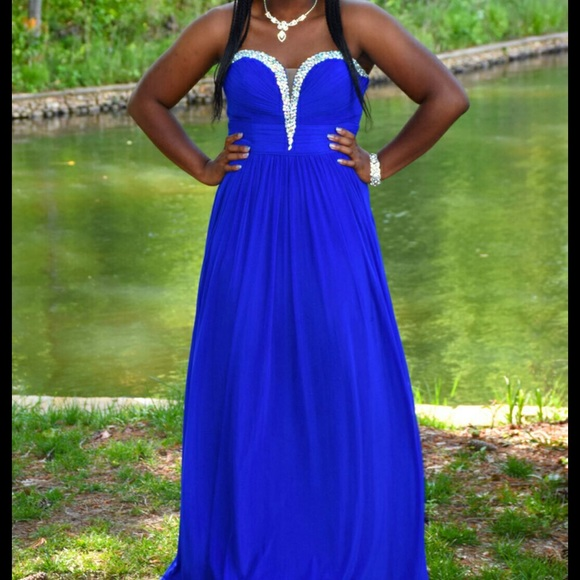 Davids Bridal Dresses Size 12 Royal Blue Prom Dress Poshmark