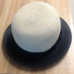 Tan/Black derby hat