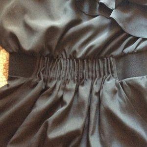 Dresses - One shoulder black dress