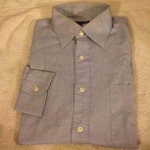 Hart Schaffner Marx Other - Hart Schaffner Marx Blue Dress Shirt 16-36