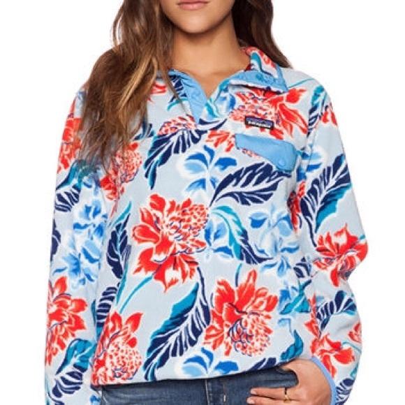 Patagonia jackets coats floral print fleece poshmark floral print patagonia fleece mightylinksfo