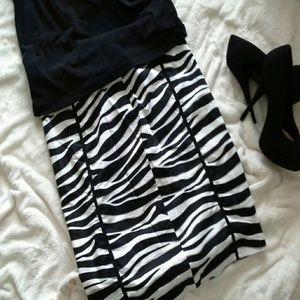 Cato Dresses & Skirts - ♥ Sexy zebra print skirt