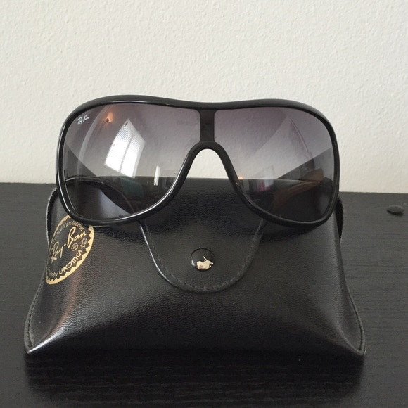 d94cb6e7a1 Ray-Ban Oversized Shield Aviator Sunglasses Black.  M 57c31637713fde87ab03a350. Other Accessories ...