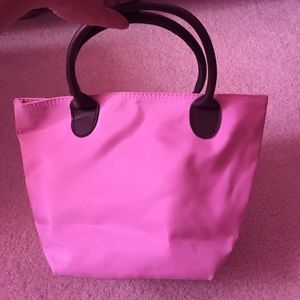 Handbags - Mini baby pink bag with zipper