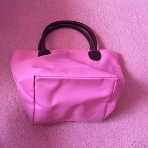 Bags - Mini baby pink bag with zipper