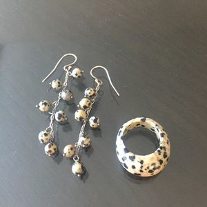 Jewelry - Tiger jasper ring and earrings
