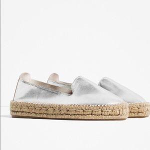 Zara Shoes - NWT ZARA laminated esparadilles!🎉🎉😘